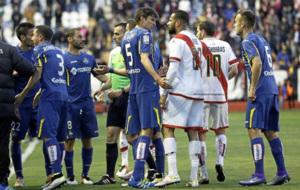 Partido entre el Rayo y el Getafe en Primera del pasado abril.