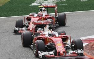 Vettel y Raikkonen en el GP de Italia