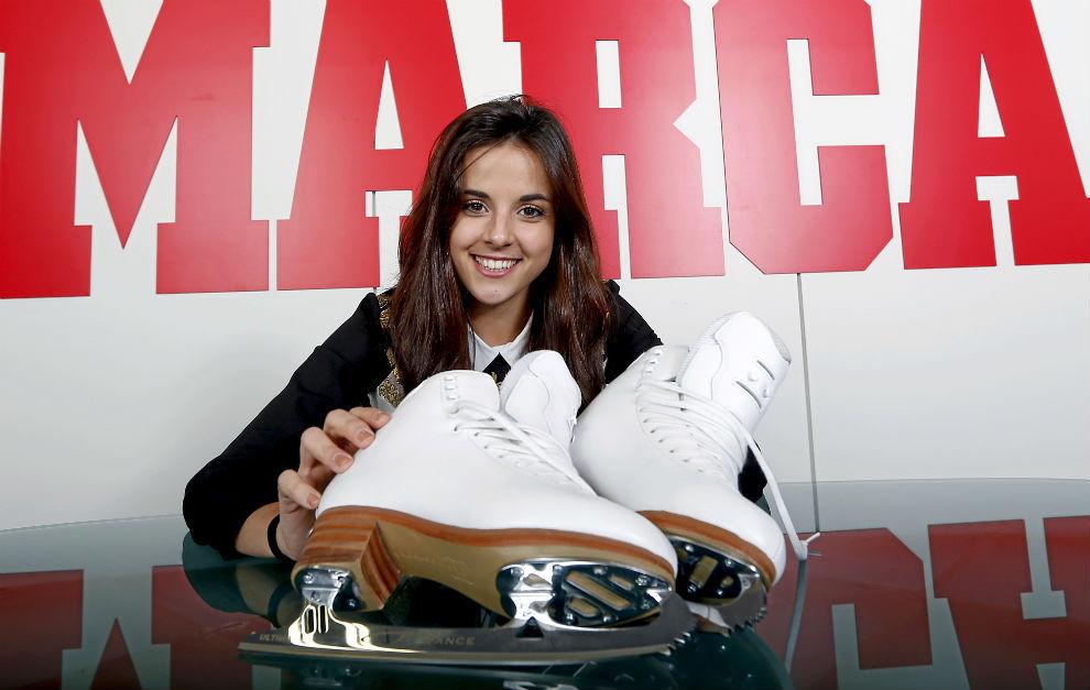 Sara Hurtado, durante una visita a MARCA.