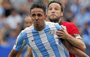 Weligton durante un partido ante el Athletic de Bilbao. /