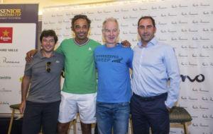 Grosjean, Noah, McEnroe y Costa, en la presentaci�nCa