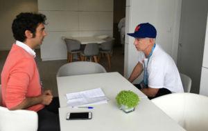 McEnroe, durante la entrevista