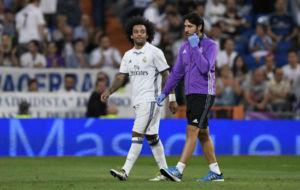 Marcelo se retira lesionado contra el Villarreal