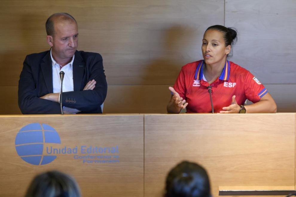 Teresa Perales habló en representación de los deportistas...