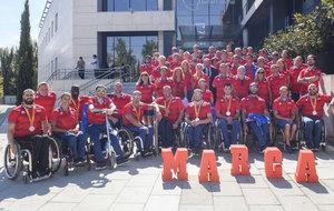 El equipo paralímpico español visitando MARCA