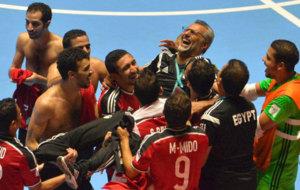 Los jugadores de Egipto celebran su clasificación
