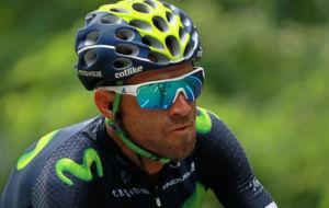Alejandro Valverde, durante una etapa.