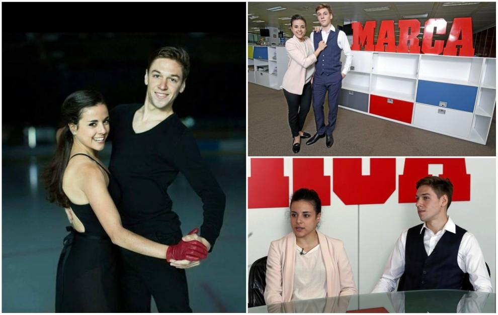 Sara Hurtado y Kirill Khalyavin en la pista y en la redacción de...
