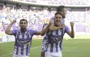 �lex L�pez, Mata y Joan Jordan celebran el gol ante el Girona,...