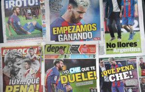 Las portadas de los principales medios peruanos.