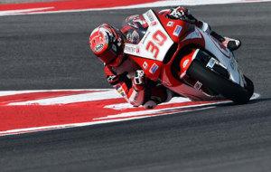 Nakagami pilota su Honda en el pasado Gran Premio de San Marino.