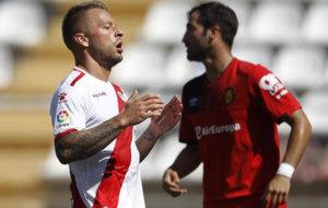Ebert durante un partido frente al Mallorca.