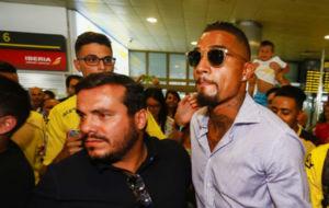 Kevin Prince Boateng a su llegada a Gran Canaria