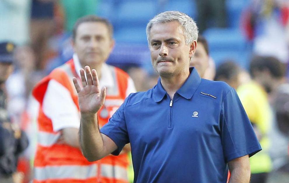 Mourinho, en su último partido con el Real Madrid