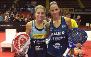 Alejandra Salazar y Marta Marrero en el World P�del Tour de Sevilla.