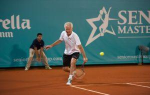 McEnroe, en el momento de llegar a una pelota