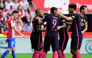 El Barcelona sin Leo Messi demostr� en El Molin�n pegada y recursos...