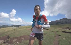 Miguel Heras, durante el recorrido del Ultra Pirineu.