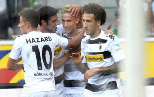 El Gladbach celebra un gol este fin de semana
