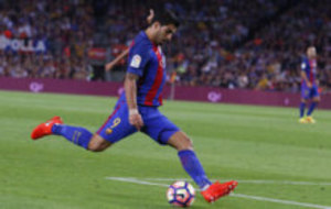 Luis Suarez during the match against Atletico Madrid.
