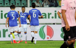 La Juventus celebra su gol ante el Palermo