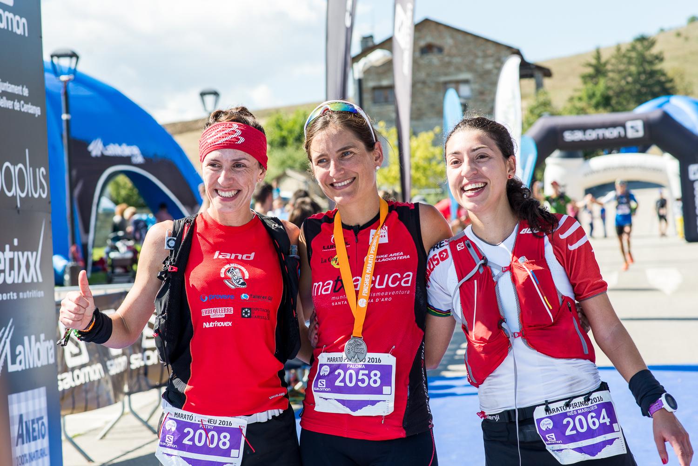 El podio femenino: Patry Barreda, Paloma Lobera e Inés Marqués.