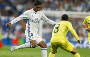 Varane en el partido ante Las Palmas