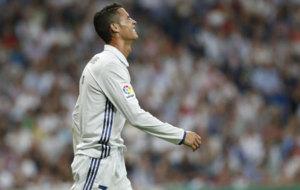 Cristiano Ronaldo during the match against Villarreal.