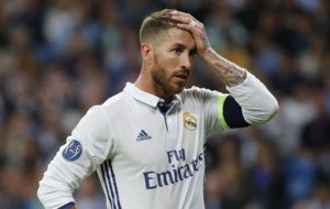 Sergio Ramos during the Champions League match against Sporting CP.