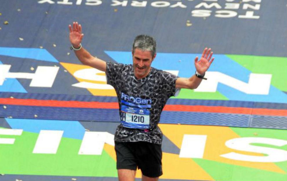 Martin Fiz, en su victoria en Nueva York.