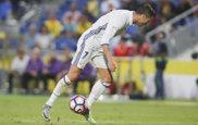 Cristiano Ronaldo, en un lance del partido ante Las Palmas.