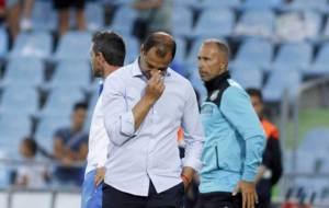 Esn�ider durante el partido ante el Girona.