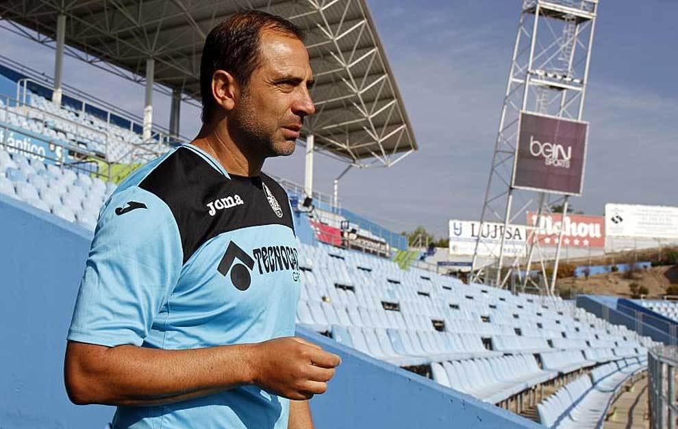 Juan Eduardo Esnáider, esta misma mañana en el Coliseum