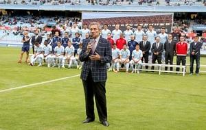 Carlos Mouri�o durante el trofeo Quinocho antes del partido entre el...