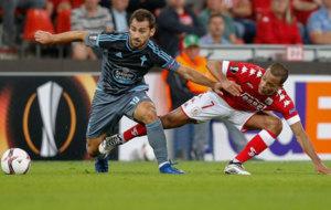 Jonny en el partido de la primera jornada frente al Lieja