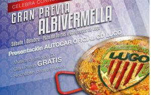 Cartel de promoci�n del Evento del Lugo previo al partido ante el...