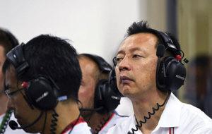 El director del proyecto de Honda en la F1, Yusuke Hasegawa, durante...