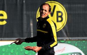 Tuchel, en el entrenamiento del Dortmund.