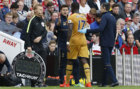 Moussa Sissoko substituted after sustaining a injury against...