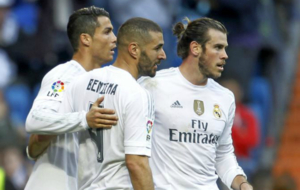 La BBC, en un partido con el Real Madrid