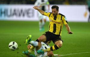 Castro en un partido con el Borussia
