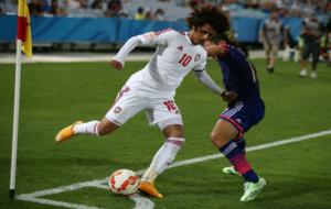 Omar Abdulrahman, de Al Ain, durante la pasada Copa Asia con Emiratos...