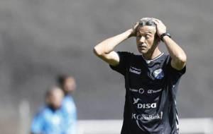 Jos� Luis Mart�, durante un entrenamiento reciente del Tenerife