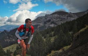 Miguel Heras, durante el recorrido del Ultra Pirineu 2016.