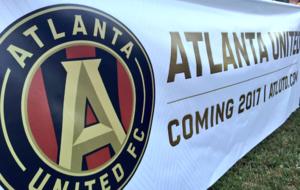 Una pancarta del Atlanta United
