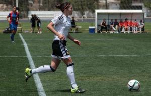 Natalia Gait�n durante un partido esta temporada.