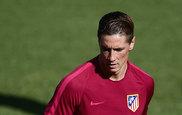 Fernando Torres durante un entrenamiento.