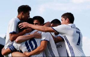 Los jugadores del Real Madrid celebrando uno de los tantos