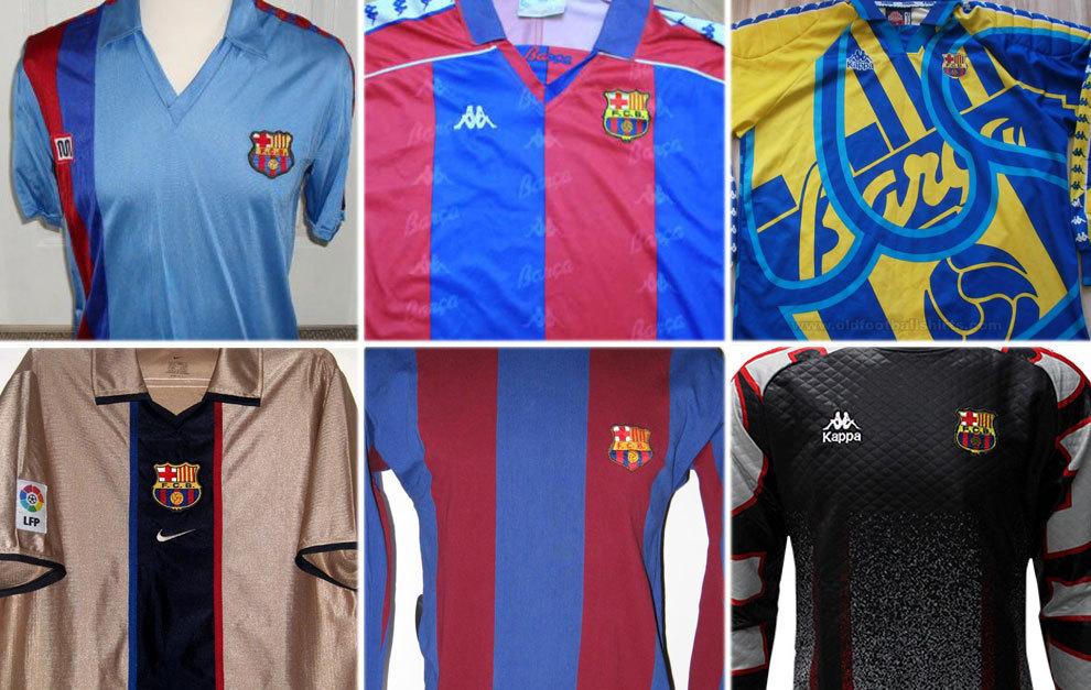 FC Barcelona  ¿Cuánto sabes de las camisetas del Barcelona   877efc230d12c