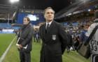 Cesare Prandelli (59) durante un partido internacional con Italia.